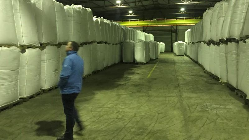 An inspection of the warehouse at the processors plant gives insight into parameters such as physical conditions of the storage and traceability measures.